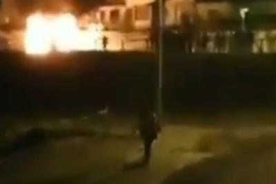 Una persona lesionada tras impacto de bomba molotov en Antofagasta