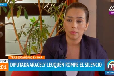 """""""Ese día yo me equivoqué"""": Aracely Leuquén reaparece tras polémica que protagonizó en bar capitalino"""