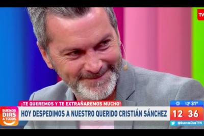 La llorada despedida de Cristián Sánchez del Buenos Días A Todos