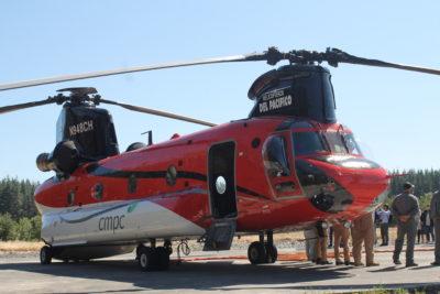Los modernos helicópteros con los que CMPC combatirá incendios