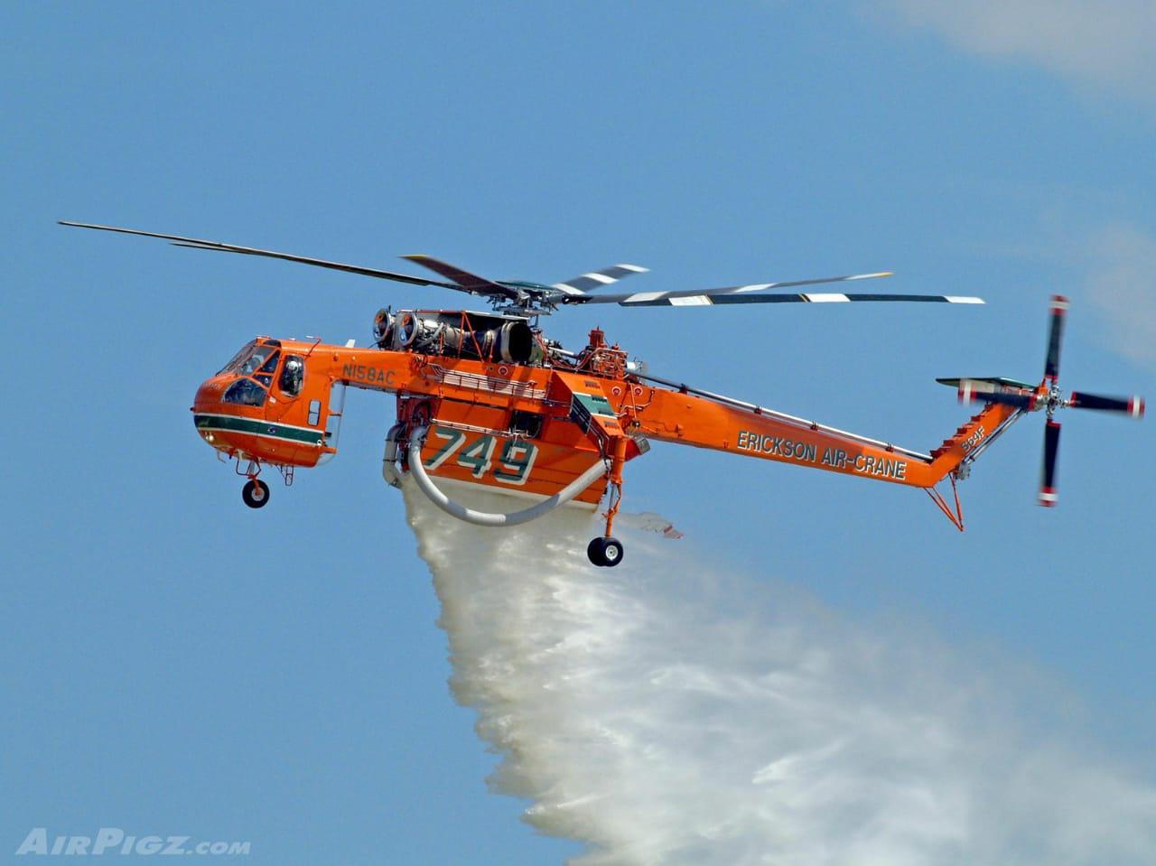 Goliath: El súper helicóptero que combatirá los incendios forestales en Valparaíso