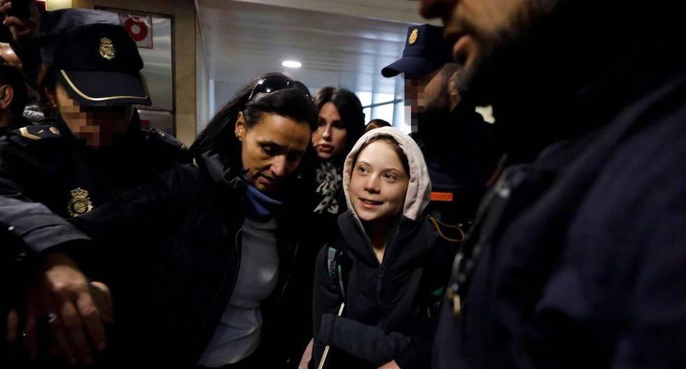 Greta desata locura en su llegada a Madrid