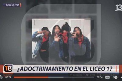Corte de Apelaciones confirma sanción contra Canal 13 por nota sobre adoctrinamiento en Liceo 1