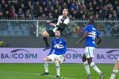 VIDEO | A lo Zamorano: Cristiano Ronaldo impactó con su golazo de cabeza en Italia