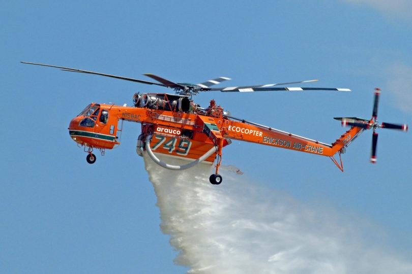 Aterrizan en Chile los helicópteros más grandes y eficientes del mundo para el combate de incendios forestales