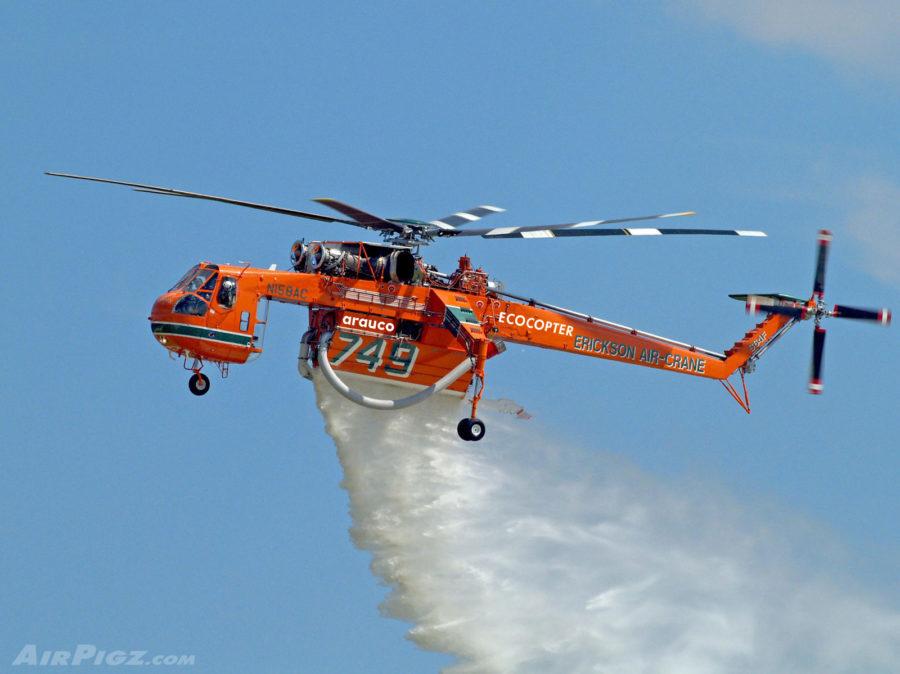"""""""Aterrizan en Chile los helicópteros más grandes y eficientes del mundo para el combate de incendios forestales"""""""