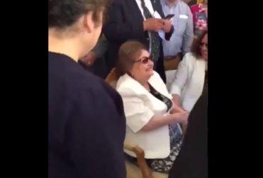 Lucía Hiriart reaparece en ceremonia de homenaje a Pinochet