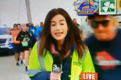 Sancionan de por vida a corredor que manoseó a una periodista en plena maratón