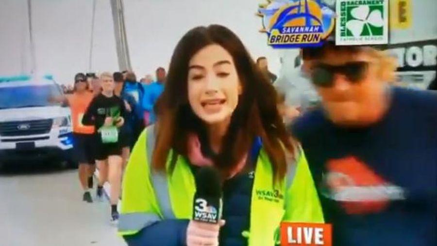 """""""Sancionan de por vida a corredor que manoseó a una periodista en plena maratón"""""""