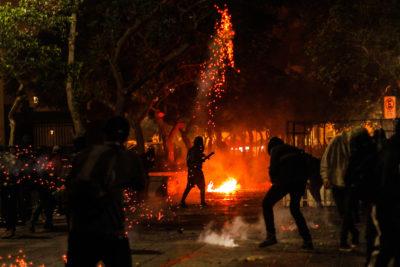 Con incidentes terminó celebración de Año Nuevo en Valparaíso