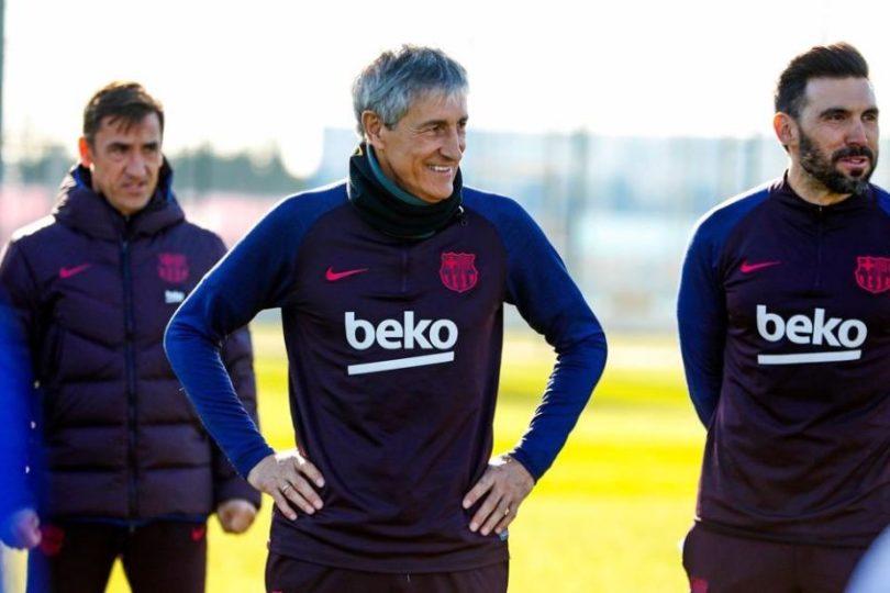 Setién no descarta salida de jugadores del Barcelona durante los próximos días