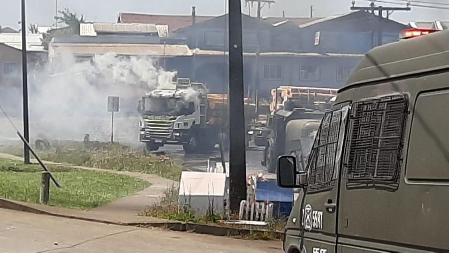 Ataques incendiarios simultáneos en Cañete dejan cinco camiones quemados