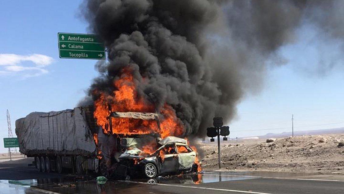 """""""Cuatro fallecidos en choque frontal en ruta que une Calama y Tocopilla"""""""