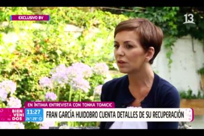 """Fran García-Huidobro reaparece en TV tras más de 20 días internada: """"Casi me morí"""""""