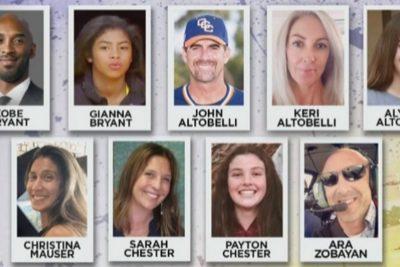 Confirman identidad de todos los fallecidos del accidente aéreo en el que murió Kobe Bryant
