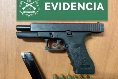 Detienen a joven con arma de fogueo en sede de la PSU en Quilicura