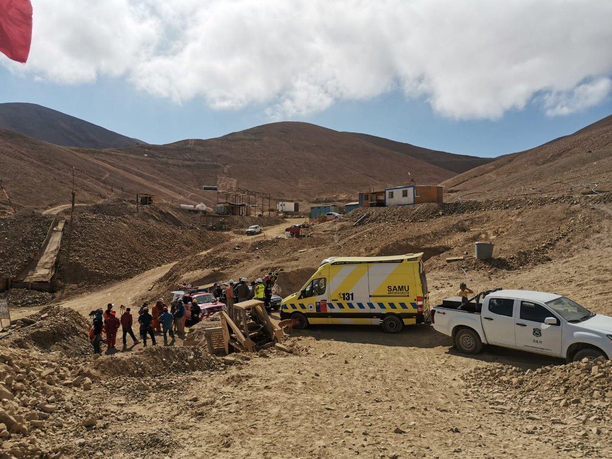 """""""Accidente en mina Santa Mónica de Tocopilla dejó un muerto y cuatro heridos"""""""