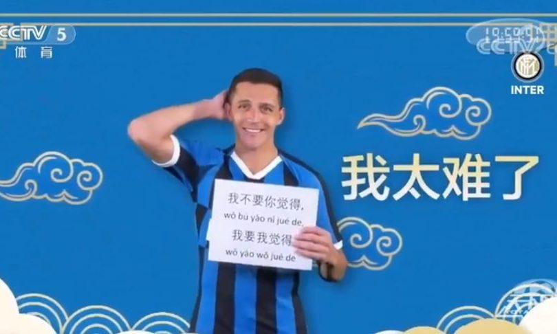 VIDEO | Alexis Sánchez se luce hablando en chino en spot del Inter de Milán