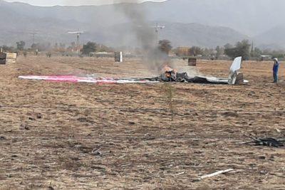 Reportan caída de avioneta en zona norte de Santiago: dos personas fallecidas