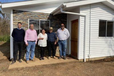 Entregan viviendas definitivas para damnificados de incendios rurales de Carahue