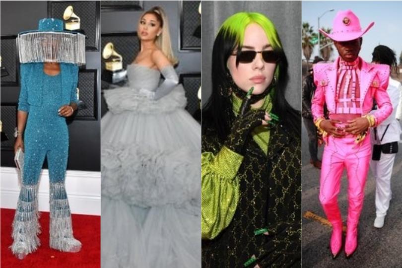FOTOS  Todos los extravagantes looks que dejó la alfombra roja de los Grammy 2020