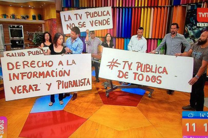 ¿Qué organizaciones sociales interrumpieron el matinal de TVN?