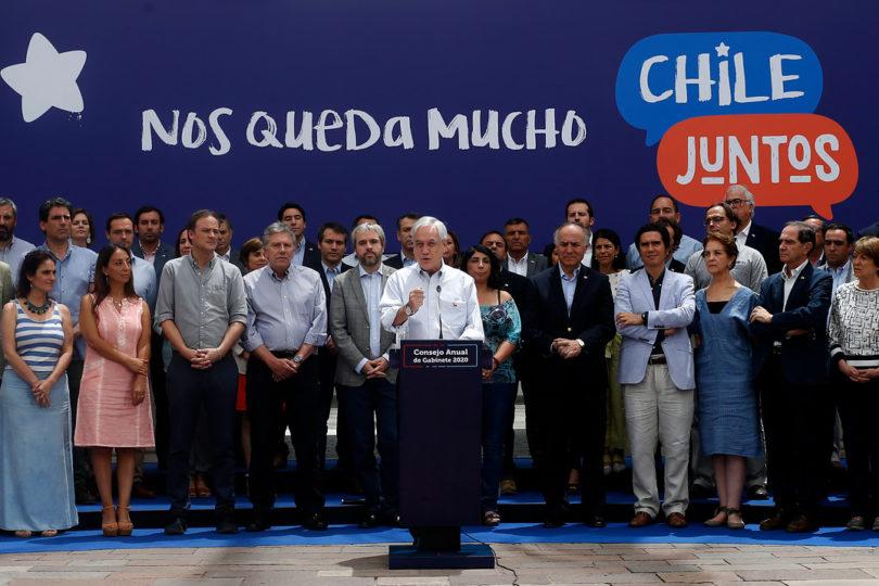 """Piñera presentó hoja de ruta 2020: """"Necesitamos el apoyo de Chile Vamos y la oposición"""""""