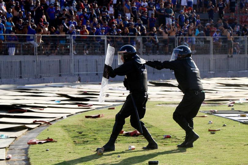 """""""Guardia Robocop"""": el origen de la fuerza de seguridad que resguarda los partidos en el Estadio Nacional"""