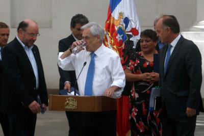 """Piñera por crisis hídrica: """"La prioridad es el consumo de las personas y eso está fuera de discusión"""""""
