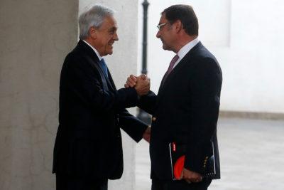 Piñera recibe a Felipe Guevara en La Moneda tras rechazo a acusación constitucional