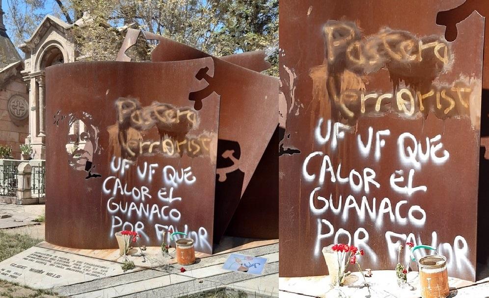 """""""Desconocidos rayan tumba de Gladys Marín"""""""