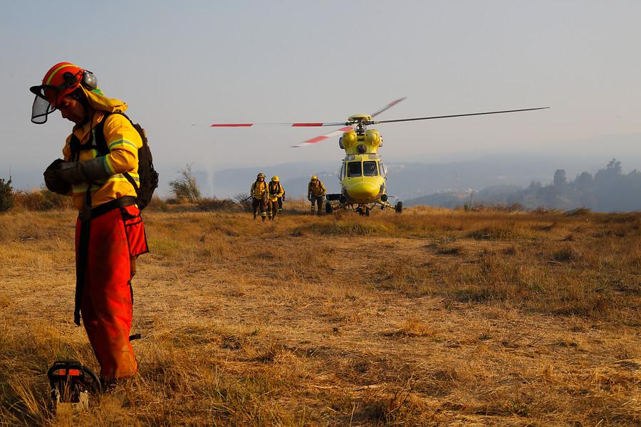 Incendio forestal obliga a cerrar elParque Nacional Siete Tazas y evacuan a 150 familias