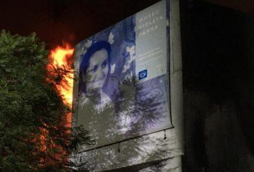 Incendio afecta nuevamente a Museo Violeta Parra en medio de protestas