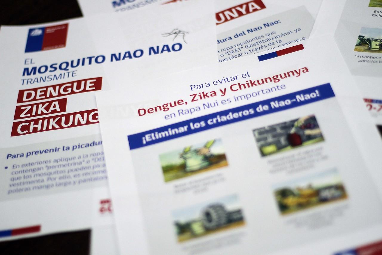 Confirman dos casos de dengue en Iquique y dos en Rapa Nui