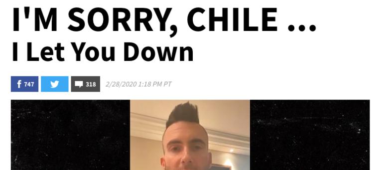 De Chile al mundo: polémica de Adam Levine en Viña 2020 llega a portales internacionales