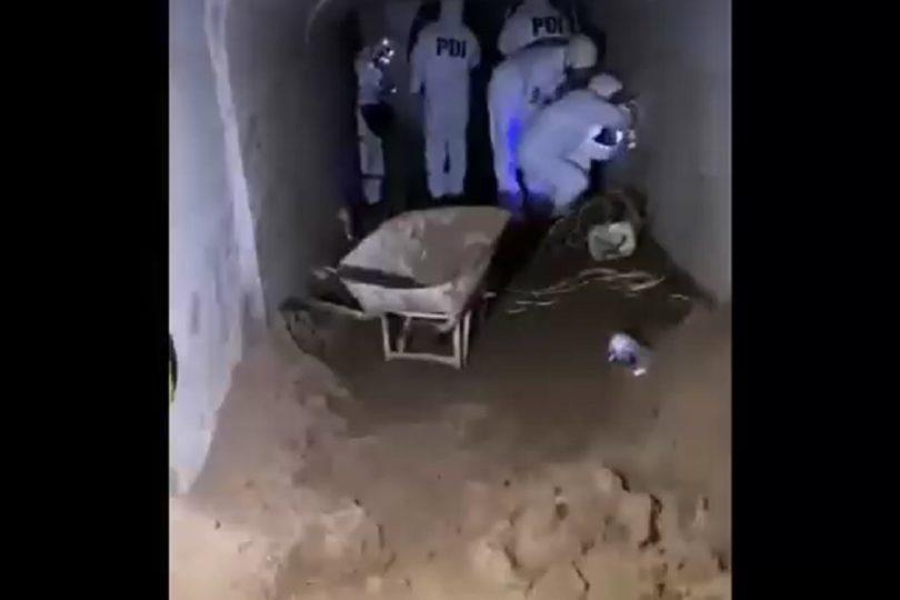 Insólito: personal de la PDI halló túnel que iba directo a banco en Concón