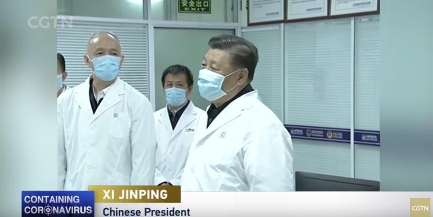 VIDEO   Presidente Xi Jinping visita centro de tratamiento del coronavirus en Beijing