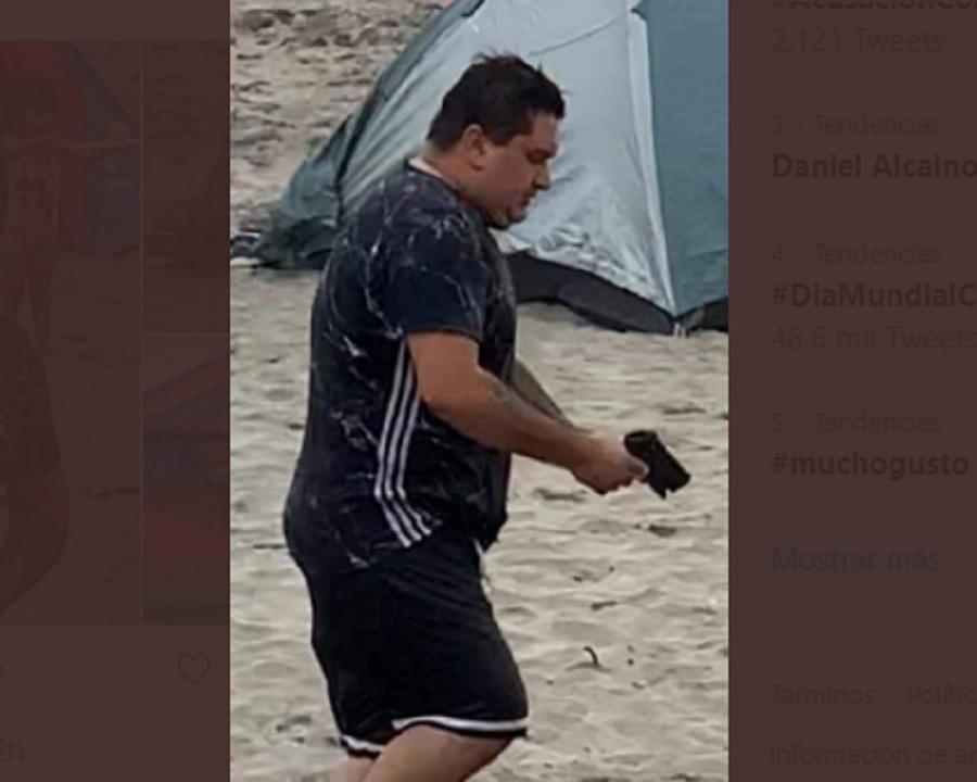 Sujeto amenazó con un arma a salvavidas de la playa San Sebastián