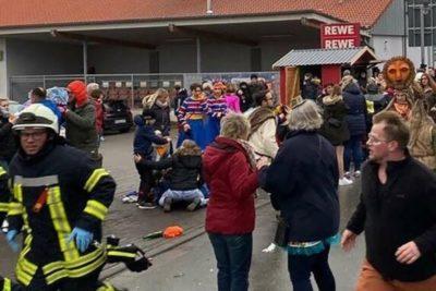 Sujeto embiste con su vehículo a multitud en un carnaval en Alemania y deja más de 30 heridos