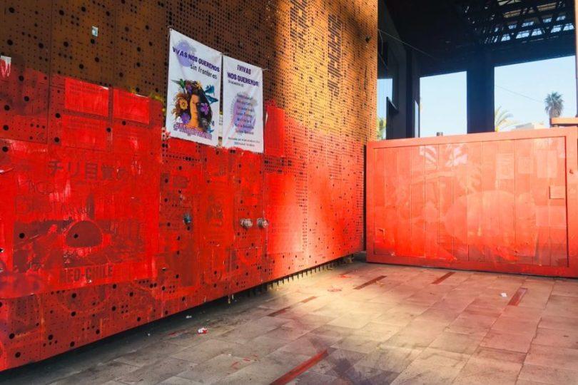 """""""No fue autorizada"""": centro GAM condena borrado de rayados en su fachada"""
