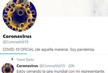 """""""Estoy cerrando la gira mundial con mi representante"""": coronavirus tuitero hace furor en redes sociales"""