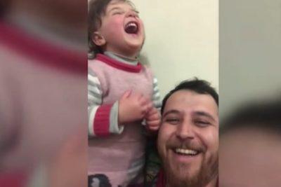Guerra en Siria: padre crea juego para que su hija no se asuste con las bombas