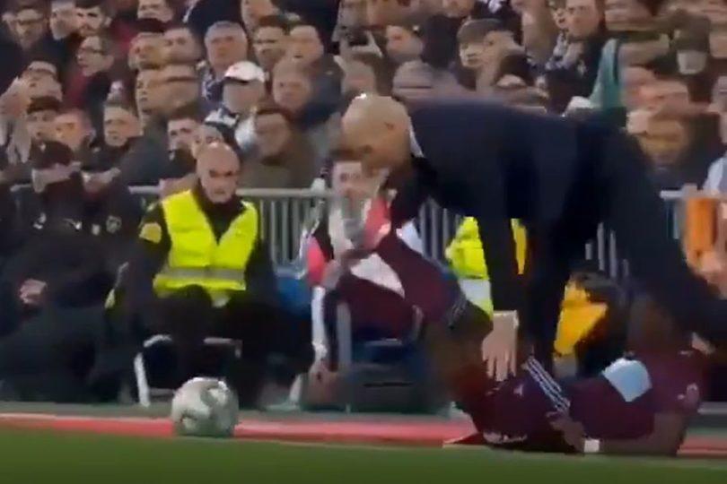 VIDEO | La patada en la cara que recibió Zinedine Zidane en pleno partido en España