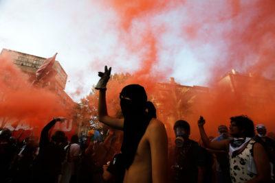 Manifestaciones y enfrentamientos marcaron el primer lunes de marzo