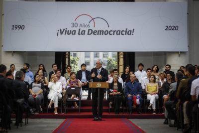 El mea culpa del Presidente Piñera en conmemoración por los 30 años de democracia