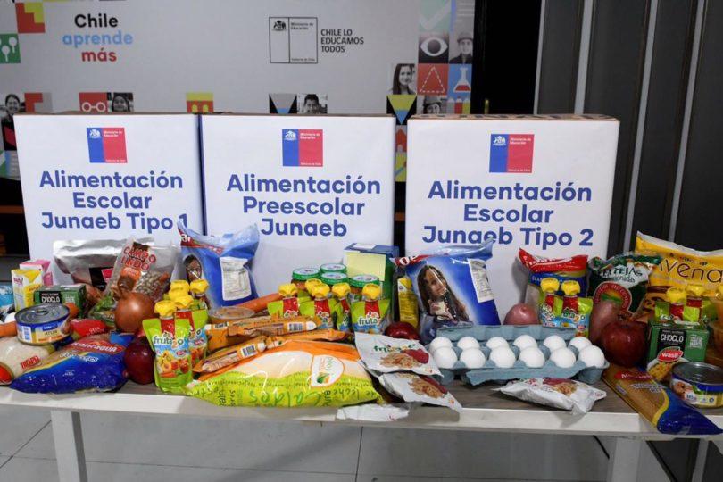 Junaeb pide a apoderados esperar el aviso de los colegios para retirar las canastas de alimentos