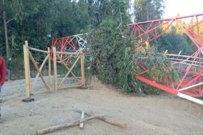 Sujetos hicieron explotar tres antenas telefónicas en la provincia de Arauco
