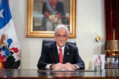"""Piñera en cadena nacional: """"Son tiempos de unidad y no de división"""""""
