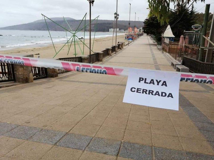 Papudo cerró sus playas para evitar contagios de coronavirus