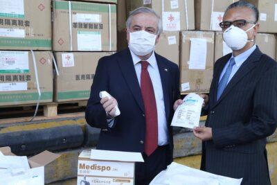 Gobierno recibe donación de China y anuncia pronta entrega de ventiladores mecánicos